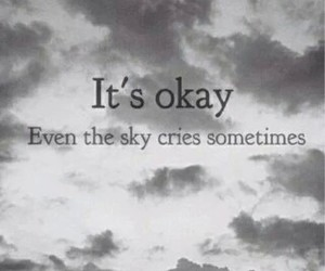 cry, sky, and sad image