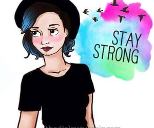 demi lovato, drawing, and stay strong image
