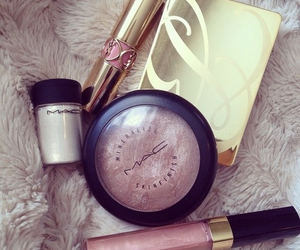 mac, YSL, and makeup image