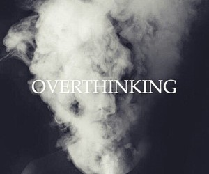 overthinking, black, and life image
