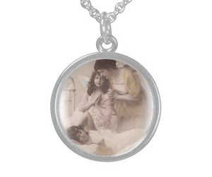 angels, necklace, and love image