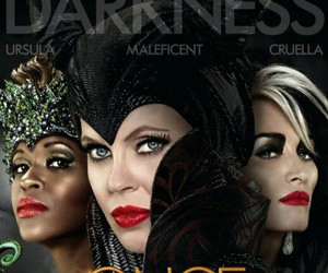 ursula, maleficent, and once upon a time image