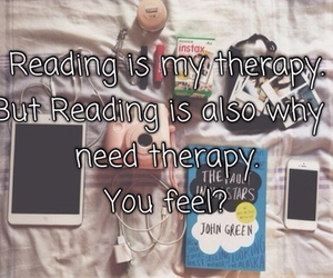 book, reading, and the fault in our stars image