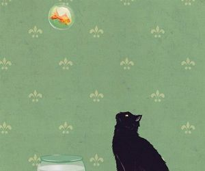 cat and illustration image