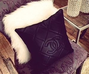 chanel, leather, and pillow image
