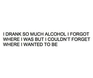 alcohol, quote, and drunk image