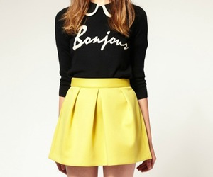 skirt, fashion, and yellow image