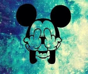 background, blau, and mickey image