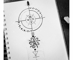 compass, design, and sketch image