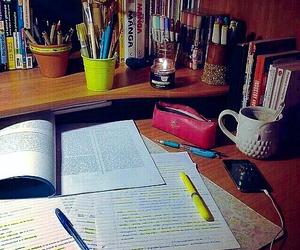 books, work, and decor image