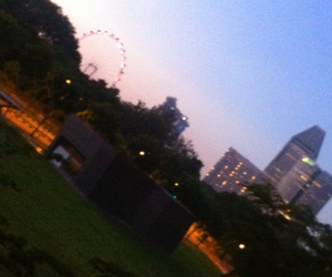 landscape, sky, and singapore flyer image