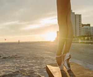ballet, ballerina, and beach image