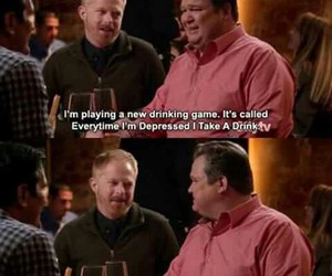 modern family, funny, and alcohol image
