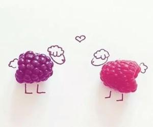 love, sheep, and raspberry image