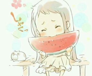 eat, fruit, and girl image
