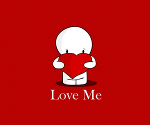 heart, love me, and valentine image