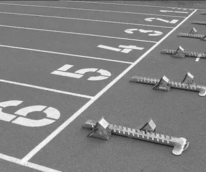 athletics, black and white, and sport image