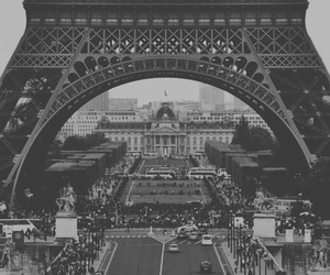 white, b&w, and paris image