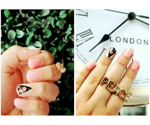 nail wraps, love, and fashion image