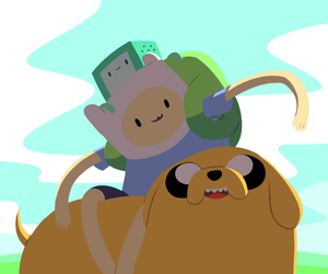 adventure time, JAKe, and bmo image