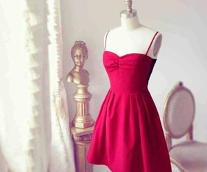 dress, red, and simple image