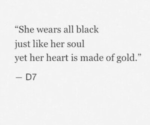 black, gold, and heart image