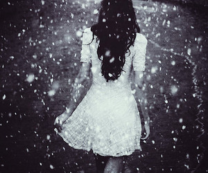 girl, dress, and snow image