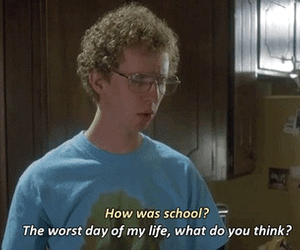 school, funny, and napoleon dynamite image