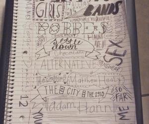 alternative, bands, and doodles image