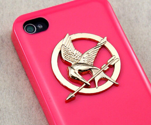pink, hunger games, and iphone case image