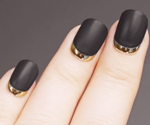 black, gold, and french image
