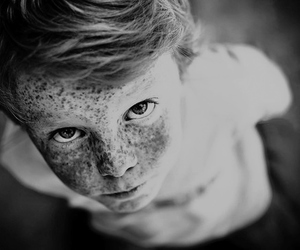 boy, freckles, and eyes image