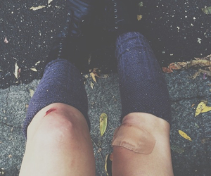 bandaid, grunge, and knee image