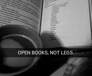 book, legs, and quotes image