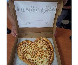 couple, creative, and pizza image