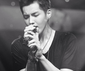 black and white, kris, and singing image