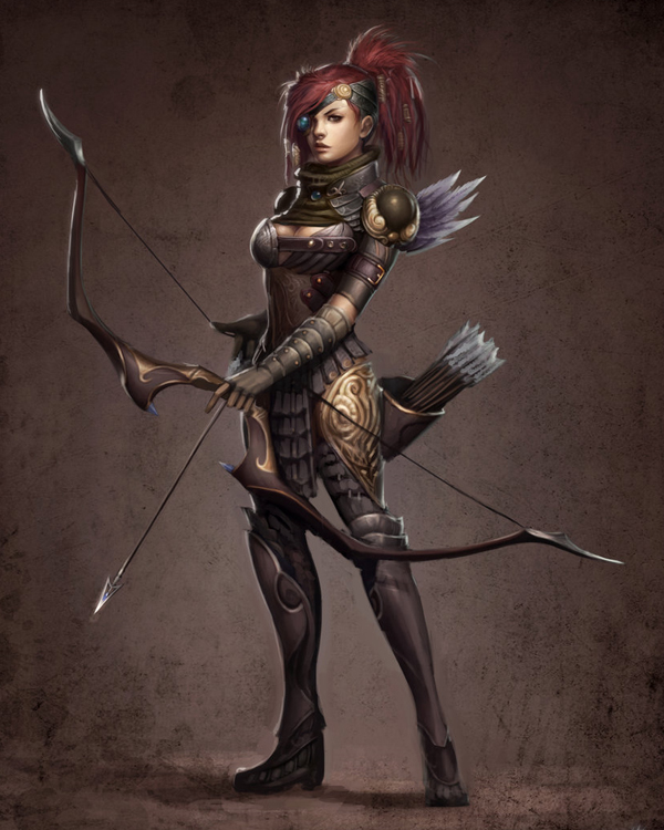 Fantasy female archer and