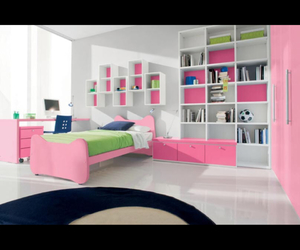 bedroom, bedrooms, and books image