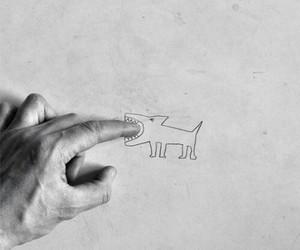 alternative, black and white, and dog image