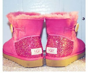 pink, pretty, and uggs image