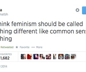 feminism, true, and common sense image