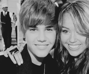 cyrus, justin, and miley image