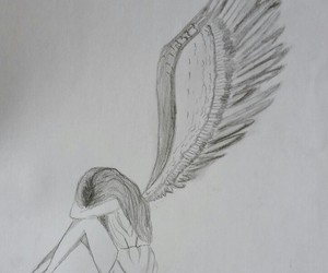 angel, drawing, and cute image