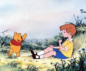 Christopher, winnie the pooh, and disney image