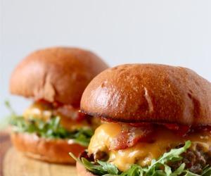 bacon, burger, and cheeseburger image
