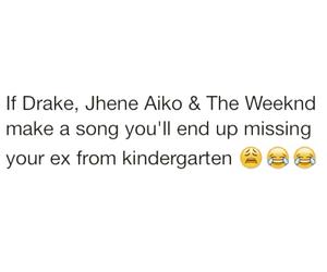 Drake, ex, and jhene aiko image