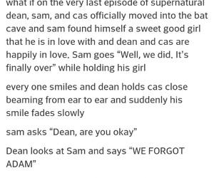 adam, dean, and ending image