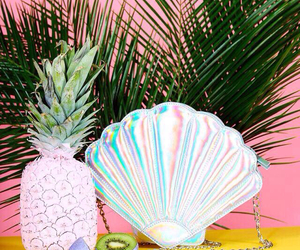 pineapple, kiwi, and mermaid image