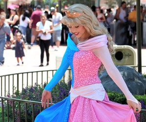 aurora, disney, and dress image