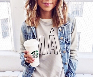 fashion, starbucks, and girl image